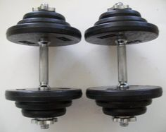 Great 80 lb. Adjustable Dumbbell Set with Rubber Encased Plates