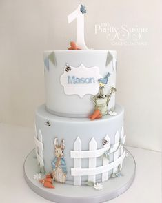 Browse through the different cakes we create here at The Pretty Sugar Cake Company, from Wedding Cakes & Wedding Favours to Celebration Cakes, to Cupcakes & Cookies. Easter Birthday Party, Boys 1st Birthday Cake, Birthday Cake For Husband, Happy Birthday Cakes, Birthday Ideas, Peter Rabbit Cake, Peter Rabbit Birthday, Peter Rabbit Party, Beatrix Potter Cake