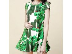 Spring Cactus #Dress