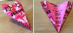 Custom Pink Camo Paper Airplane Invitation - Personalize Colors, Verbiage, Font & More! Perfect for Birthdays, Promotions, Thank You's, Etc!