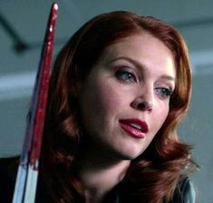 Abaddon is a recurring antagonist on the TV series Supernatural. She is a supporting antagonist of the season and one of the two main antagonists (along with Metatron) in the ninth season. She is portrayed by Alaina Huffman. Abaddon Supernatural, Supernatural Cosplay, Supernatural Beings, Supernatural Fandom, Ruth Connell, Eric Kripke, Felicia Day, Supernatural Wallpaper, Jared And Jensen
