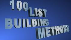flashcavdesign: give you my ideas of list building methods for $5, on http://fiverr.com/flashcavdesign/give-you-my-ideas-of-list-building-methods