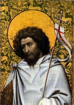 Robert Campin, St. John the Baptist, 1415