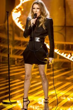 Celine Dion performs on last nights X Factor