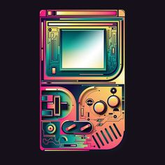 Retro vibes, one of my earlier vector experiments. #retro #gameboy #gaming #nintendo #graphic #print #illustration #adobe #illustrator #creativecloud #vector #game #oldschool #nextlevel #futuristic #thedesigntip #art #nostalgia #playful #neon #gadget #hightech