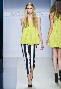 Lime Yellow!  Yellow Color FashionTrend for Spring Summer 2013.  Simonetta Ravizza Spring Summer 2013.  #fashion #trends