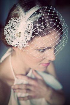 Lucinda vintage birdcage veil