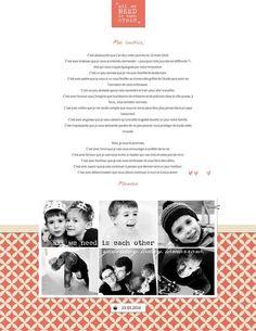 Quand le scrap se fait thérapie | Lettre à mes enfants au lendemain des attentats de Bruxelles. Cliquez pour la lire. | www.paperns.com