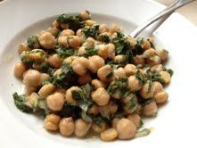 Chickpea Lemon Spinach Salad for healthy Memorial Day picnics & BBQs!