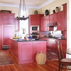 Kitchen Cabinets Red red kitchen cabinet paint colors : perfect kitchen cabinet paint