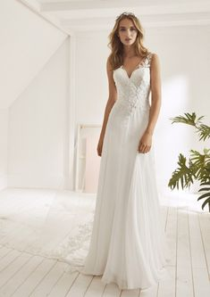 52dda7db4f6 25 Awesome Pronovias White One Wedding Gowns images