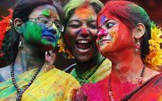 India! March Holi colour festival!