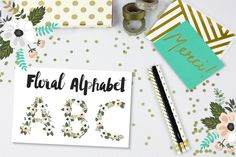 Floral Alphabet by lokko studio on Creative Market