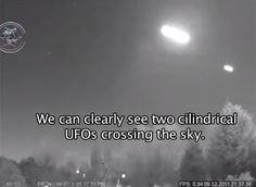 The Famous UFO Cylindrical  Caught by (Security Cameras)