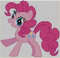 Pinkie Pie c-s Pattern by ~Jackiekie Crossstitch and Embroidery Pattern My Little Pony Crafts Tutorial  My Little Pony Patterns for Fan Art Diy Projects, My Little Pony Sewing Template for  Unicorn , pony, ponies, pattern, template, sewing, diy , crafts, kawaii, MIP
