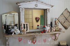 Have a Daily Cup of Mrs. Olson-Sew in Love Valentines Mantle