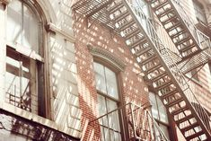 Photography idea: city fire escape playing with light and shadow