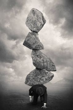 Black and White Surreal Photography by: Tommy Inberg The Burden of conceptual knowledge.made clearly visible Surrealism Photography, Conceptual Photography, Photoshop Photography, Creative Photography, Art Photography, Surreal Photos, Surreal Art, Photo D Art, Photo Manipulation