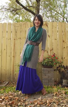 """Winterized"" maxi dress or skirt"