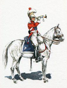 Trumpeter Dutch 2nd Carabinier Regiment: Battle of Waterloo on 18th June 1815
