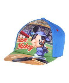 Look at this #zulilyfind! Blue 'Team Mickey' Baseball Cap by Penguin Kids Wear #zulilyfinds
