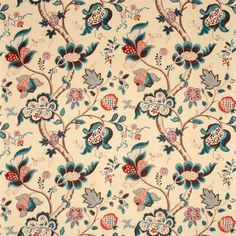 Sanderson - Traditional to contemporary, high quality designer fabrics and wallpapers | Products | British/UK Fabric and Wallpapers | Roslyn (DVIPRO205) | Vintage Fabrics