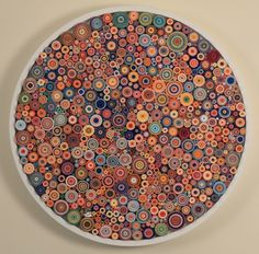 like a klimt painting or kaffe fassett knit design wonderful recycled paper art to make rolled paper art Origami Paper, Diy Paper, Paper Crafts, Quilling Designs, Paper Quilling, Neli Quilling, Rolled Paper Art, Magazine Crafts, Ideias Diy