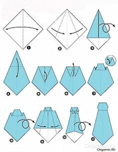 How to make a tie Instructions for a paper tie Origami Origami Shirt, Instruções Origami, Origami Dress, Oragami, Dollar Origami, Pioneer School Gifts, Pioneer Gifts, Origami Instructions, Origami Tutorial