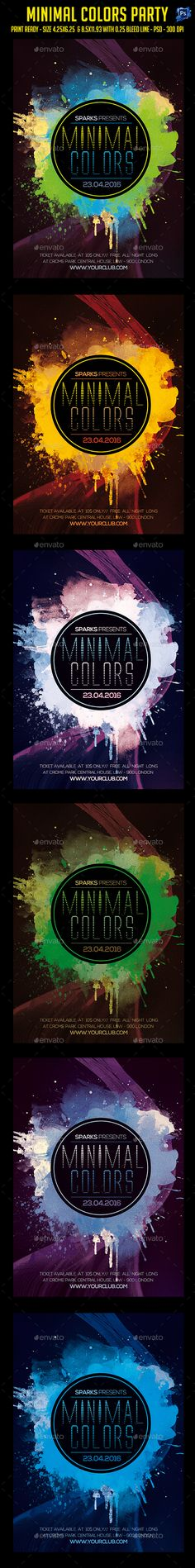 Minimal Colors Party Flyer