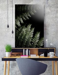 """«Grow In Darkness», Numbered Edition Acrylic Glass Print by ARTbyJWP via Curioos #homeoffice #homedecor #walldeco #artprints #artbyjwp - This numbered edition Acrylic Glass Print, designed by ARTbyJWP, comes with a numbered and signed certificate of authenticity. Printed on archival-quality photo paper mounted on the back of a 1/4"""" thick, clear acrylic substrate, this artwork comes ready to hang on a wire attached to a wooden frame fixed on the back."""