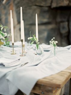 Taper Candles and Bud Vases Photography | Emerald Isle - Graceful Irish Wedding Ideas for Saint Patrick's Day @heyweddinglady