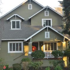 Exterior sage green paint Design Ideas, Pictures, Remodel and Decor