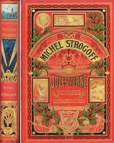 Original Jules Verne Book Covers,1800s