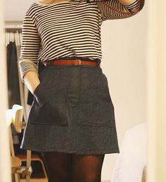 Ella's Delphine skirt - sewing pattern in Love at First Stitch