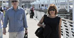Alan Rickman and his wife Rima Horton in Venice, Italy for the 70th Venice Film Festival, September 2013