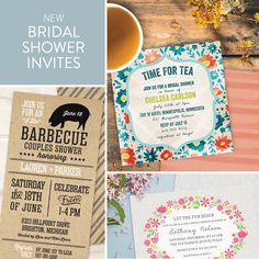 New Bridal Shower Invitations from Pear Tree