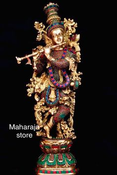 Saraswati Statue, Krishna Statue, Krishna Radha, Durga, Diwali Wishes Quotes, Krishna Flute, Bhagavata Purana, Brass Statues, Lord Vishnu