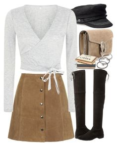 """Untitled #7678"" by nikka-phillips ❤ liked on Polyvore featuring Gucci, Topshop, Stuart Weitzman, Madewell and Forever 21"