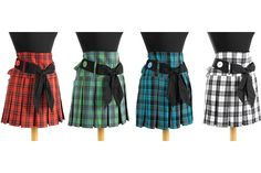 Plaid Skirt Apron #pleatedskirt #schoolgirluniform