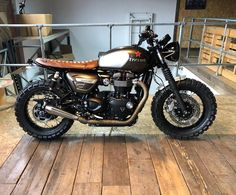 Our take on the new triumph speed twin ready for its new own.- Our take on the new triumph speed twin ready for its new owner . remember we can build you one of these and supplyparts and shipp all… - Triumph Street Scrambler, Triumph Street Twin, Triumph Cafe Racer, Triumph Motorcycles, Cafe Racers, Tracker Motorcycle, Motorcycle Wheels, Motorcycle Types, Harley Davidson Motor