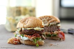 Blue Cheese Burger with Pancetta | Foodness Gracious