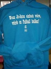 Ju Jutsu Kaputzen Pullover aqua blau Größe M