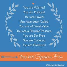 Robin Jones Gunn » Blog Archive » Spoken For: You are Spoken For