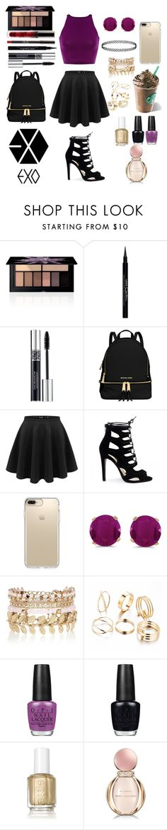 """Meeting EXO with Ari @Moonlight-princess-of-the-stars"" by crystalgems125 ❤ liked on Polyvore featuring Smashbox, Givenchy, Christian Dior, MICHAEL Michael Kors, Speck, BillyTheTree, River Island, OPI, Essie and Bulgari"