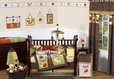 Amazon.com: Woodland Forest Animals Owl Deer Tree Baby Boy Nature Bedding 9pc Crib Set by JoJo Designs: Baby