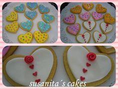 Galletas de corazones -Feliz San Valentin!...#galletasdecoradas #galletascorazon #sanvalentin #cookies #heartcookies #talentovenezolano #galletacorazon #diadelamor