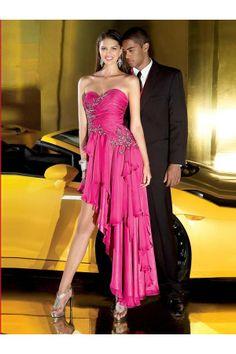 A-line Sweetheart Sleeveless Asymmetrical Purple Chiffon Dress