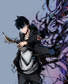 Manhwa Manga, Manga Anime, Anime Art, Dark Fantasy Art, Anime Fantasy, Boy Character, Character Design, Shadow Monster, Anime Wallpaper Live