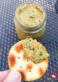Sun dried tomato and spinach pesto