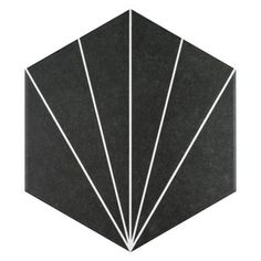 Merola Tile Trident Hex Nero Encaustic 8-5/8 in. x 9-7/8 in. Porcelain Floor and Wall Tile (11.56 sq. ft. / case)-FCDTRNX - The Home Depot Shower Floor, Tile Floor, Mosaic Tiles, Wall Tiles, Mosaic Wall, Arte Black, Artistic Tile, Tile Saw, Wall Patterns